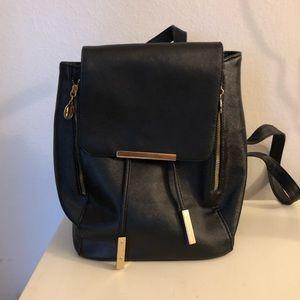 Medium Sized Black Backpack